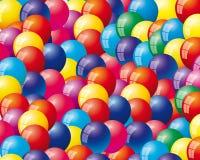Fond avec des ballons à air Images libres de droits