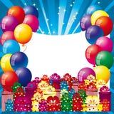 Fond avec des ballons à air Photo libre de droits