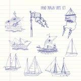 Fond avec des bateaux Image libre de droits