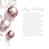 Fond avec des billes de Noël Image libre de droits
