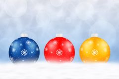 Fond avec des billes de Noël Belle illustration de vacances illustration libre de droits