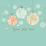 Fond avec des boules de Noël Image libre de droits