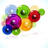 Fond avec des cercles. illustration stock