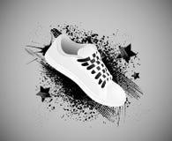 Fond avec des chaussures de gymnastique illustration libre de droits