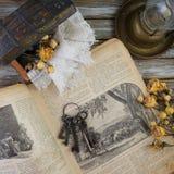 Fond avec des choses de vintage Photos libres de droits