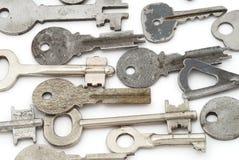 Fond avec des clés en métal Images libres de droits