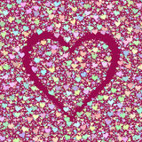Fond avec des coeurs. Photo stock