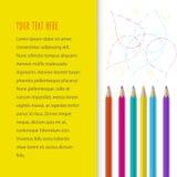 Fond avec des crayons de couleur Photographie stock libre de droits
