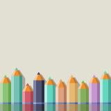 Fond avec des crayons de couleur Image libre de droits