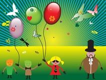Fond avec des enfants illustration libre de droits