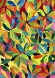 Fond avec des feuilles d'aquarelle Photo stock