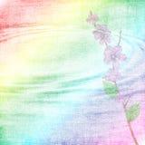 Fond avec des fleurons, lames Images libres de droits