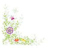 Fond avec des fleurs Photographie stock libre de droits
