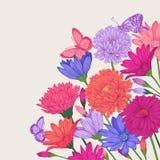 Fond avec des fleurs Photo stock