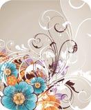 fond avec des fleurs de source Photo stock