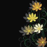 Fond avec des fleurs et des branchements illustration libre de droits