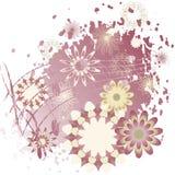 Fond avec des fleurs et des notes illustration libre de droits