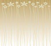 Fond avec des fleurs et des rayures Photographie stock
