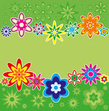 Fond avec des fleurs, vecteur Image stock