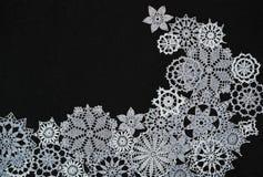 Fond avec des flocons de neige Photographie stock libre de droits