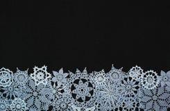Fond avec des flocons de neige Image libre de droits