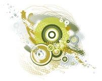 Fond avec des formes, vecteur illustration stock