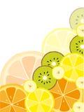 Fond avec des fruits Photos libres de droits