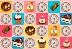 Fond avec des gâteaux Image libre de droits