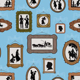 Fond avec des illustrations dans les trames Photographie stock