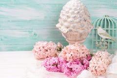 Fond avec des jacinthes de fleurs fraîches Photographie stock