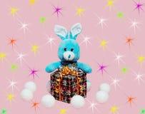 Fond avec des jouets du ` s d'enfants Image stock