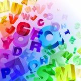 Fond avec des lettres Image libre de droits