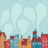 Fond avec des maisons illustration stock