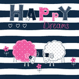 Fond avec des moutons de couples Photo stock