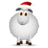 Fond avec des moutons de Santa Photo stock