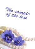 Fond avec des perles et des couleurs Photo stock