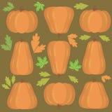 Fond avec des potirons pour le thanksgiving et le Halloween illustration libre de droits