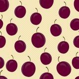 Fond avec des prunes Image stock