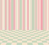 Fond avec des rayures et des couleurs en pastel à carreaux Photo libre de droits