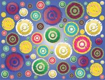 Fond avec des ronds illustration de vecteur