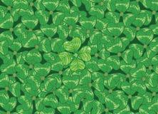 Fond avec des trèfles pour le jour du `s de St.Patrick illustration de vecteur