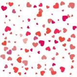 Fond avec différents coeurs colorés de confettis pour la valentine Photo stock