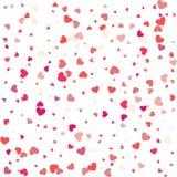 Fond avec différents coeurs colorés de confettis pour la valentine Image stock