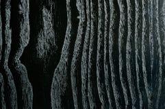 Fond avec du beau bois noir veiné Images stock