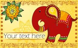 Fond avec l'éléphant illustration libre de droits