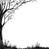 Fond avec l'arbre décoratif Images stock