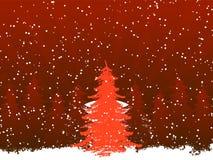 Fond avec l'arbre de Noël Photographie stock libre de droits