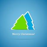 Fond avec l'arbre de Noël Photo libre de droits