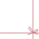 Fond avec l'arc et les rubans de ficelle de boulangers Images libres de droits
