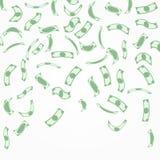 Fond avec l'argent tombant d'en haut Image libre de droits